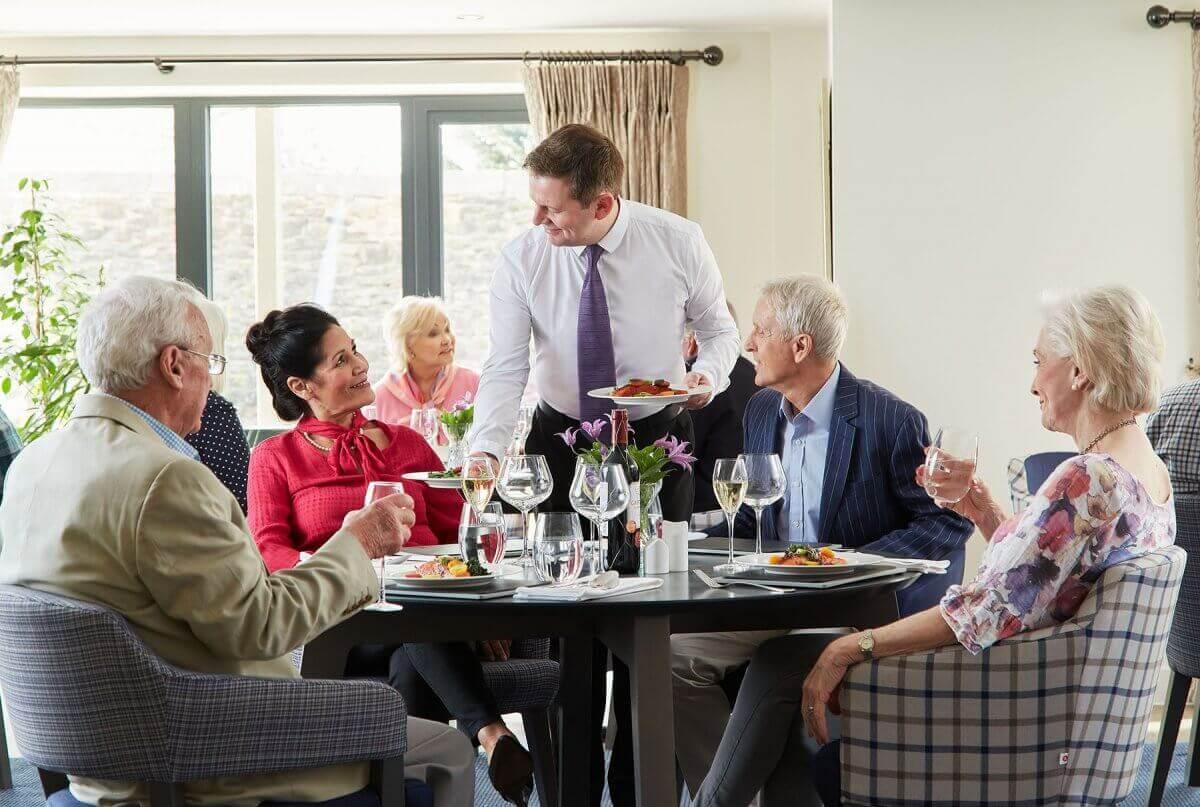 Retirement development restaurant